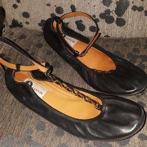 Lanvin Black Ballerina Flats
